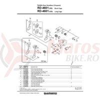 Role schimbator ghidare & tensionare Shimano RD-4601
