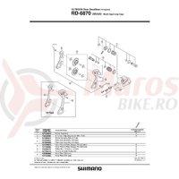 Role schimbator ghidare & tensionare Shimano RD-5800-SS