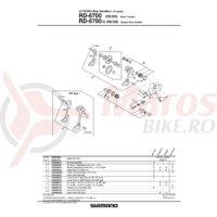 Role schimbator ghidare & tensionare Shimano RD-6700
