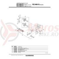 Role schimbator ghidare & tensionare Shimano RD-M410
