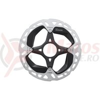 Rotor pt. frana pe disc Shimano RT-EM910-S, 160mm, incl. piulita de strangere, internal serration negru