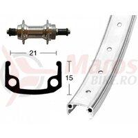 Roata spate 26x1.9 aluminiu hub screw spr, QR, 36H,