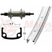 Roata spate 27x1.1/4 aluminiu screw s., rigid, 36H, alum.single-wall rim