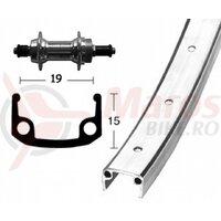 Roata spate 28x1 3/8, screw s.,6/7sp.,QR, 36H, single-wall rim