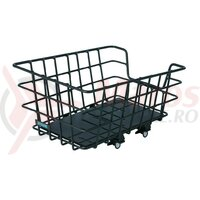 Cos spate Around College aluminiu black 46x34x22 cm fixed mounting wide-meshed