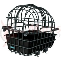 Cos transport animale spate Luna aluminiu, black, 50x36x50cm w. fix. syst.