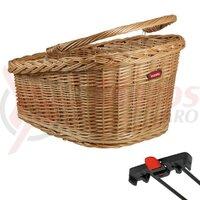 RW wicker basket GT KLICKfix 47x37x26cm, brown, for Racktime