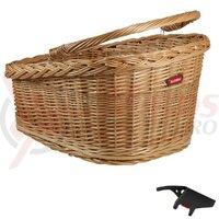 RW wicker basket GT KLICKfix 47x37x26cm, brown, w. clip