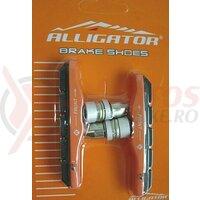 Sabot frana sina - Alligator - VB600OR, filet, tip V, corp alu / portocaliu, 72mm
