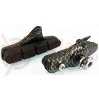 Saboti frana - Alligator- RD300-3, cursiera, carbon look, 55mm