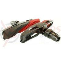 Sabot frana - ALLIGATOR - VB689, filet, tip V, rezerva sabot schimbabil / compozitie dublu color, corp alu CNC / negru, 72mm