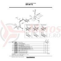 Saboti de frana rezerve Shimano BR-M770 S70C