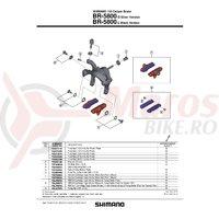 Saboti de frana Shimano BR-5800-S rezerve R55C4 argintiu 1 per.