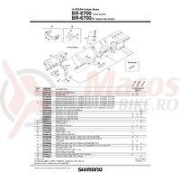 Saboti de frana Shimano BR-6700-G R55C3 rezerve 1 per.