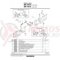 Saboti de frana Shimano BR-T670S S70C rezerve 1 per.