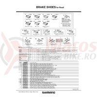 Saboti de frana Shimano R55C+1 BR-7700 (+1mm)