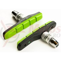 Saboti frana Bikefun MTB 72 mm cu filet negru/verde