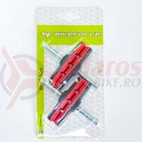Saboti frana cu tija 12T2G2 - 70 mm negru/rosu, 2 perechi