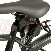 saddle bag Haberland f. chain lock black, 15 x 8 x 11cm, 1,25l