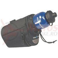 Saddle bag Micro Bottle Bag blk, 9x14x15cm, incl. Adapter 0289S