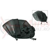 Borseta SKS Explorer Straps 1800 negru,180+40x80x130+10mm 186g 1.8l