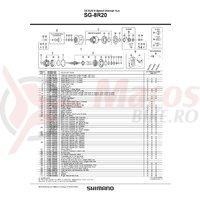 Saiba antirotire pe partea Shimano SG-8R20-8L dark green