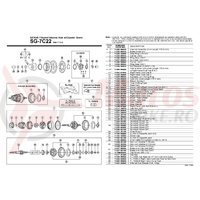 Saiba antirotire Shimano Nexus SG-7C21/SG-7C22/SG-3C41 yellow
