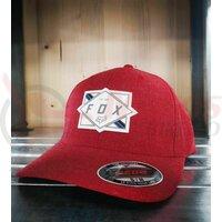 Sapca Fox Burnt Flexfit Hat [Chili]