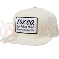 Sapca Fox Resin Snapback Hat bne white