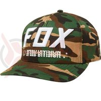 Sapca Fox Triple Threat Flexfit Hat grn cam