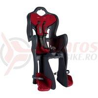Scaun bicicleta Bellelli B-One Standard spate gri/rosu