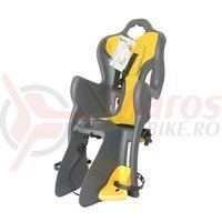 Scaun bicicleta Bellelli B-One Standard spate gri/galben