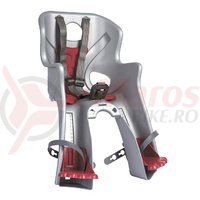 Scaun bicicleta Bellelli Rabbit B-Fix 15kg. argintiu/rosu