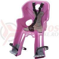Scaun bicicleta Bellelli Rabbit Multifix roz cu gri
