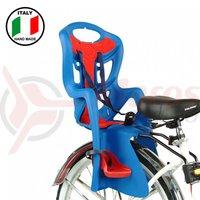 Scaun bicicleta spate Bellelli Pepe Standard bleumarin cu rosu