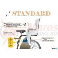 Scaun bicicleta spate Little Duck standard gri