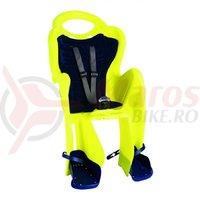 Scaun copil MR Fox Standard B-fix galben fluorescent cu negru 22kg