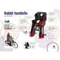 Scaun copil Rabbit Handlefix gri inchis cu rosu max.15kg