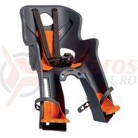 Scaun de bicicleta fata Bellelli Rabbit HandleFix gri/orange