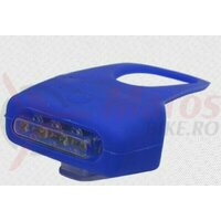 Sclipitor Eastpower EBSL-014, silikon albastru, 4 leduri rosii, baterii (2xAAA incluse)
