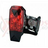 Sclipitor Infini I-261R Mini Lava, 3 leduri rosii, 4 functii, incarcare USB, baterii incluse, negru