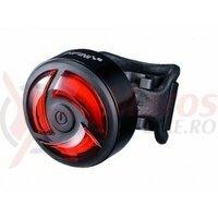 Sclipitor Infini I-462R Turbo, 30 cob led rosii, 5 functii, incarcare USB, negru, 30gr