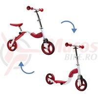 Scooter & bike pentru copii 2 in 1 rosu