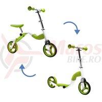 Scooter & bike pentru copii 2 in 1 verde