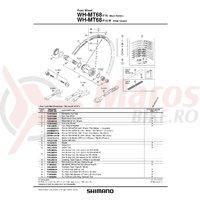 Scula pentru valva de roata Shimano WH-MT68-F15