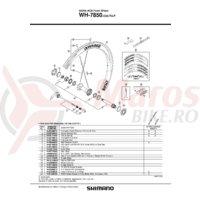 Senzor magnet Shimano WH-7850-C50-TU-F