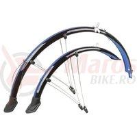 Set aparatori flexibile M-Wave 28″/45 mm negru/albastru