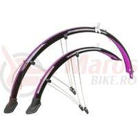 Set aparatori flexibile M-Wave 28″/45 mm negru/roz