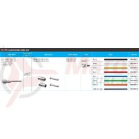 Set cablu de frana Shimano Road PTFE camasa SLR si capete HI-gray