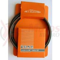 Set Cablu Frana - cabluri PTFE, invelis SP multistrat, accesorii - universal - fumuriu - Alligator BPTSB Sleek Glide